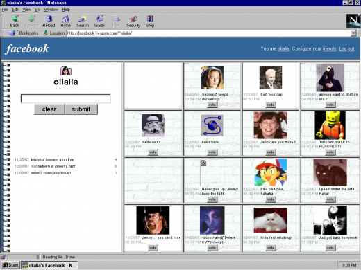 facebook 05 520x390 Check out how Facebook, Google+ and YouTube would have looked & worked in 1997