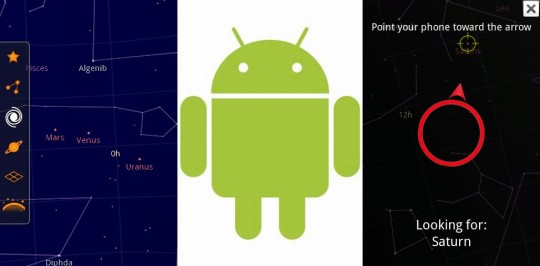 Google Sky Map App on