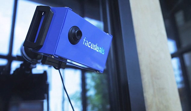 Facedeals - a new camera that can recognise shoppers from their Facebook pictures as they enter a shop, and then offer them discounts