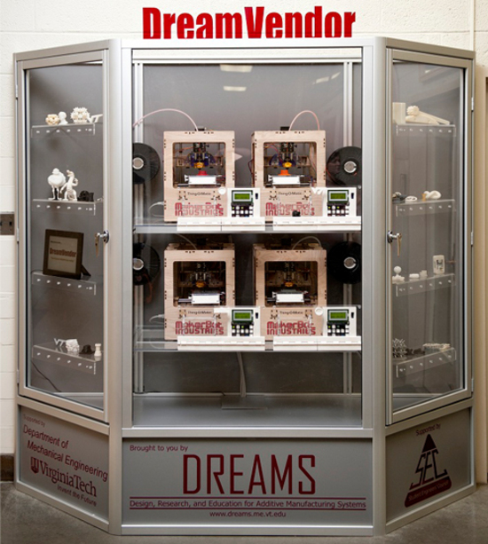 3D printing vending machine automates the invention process
