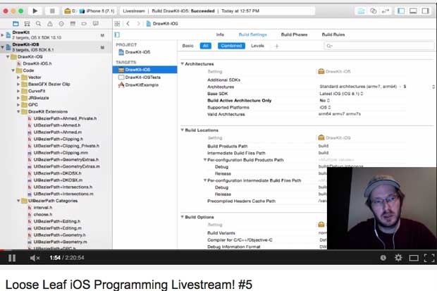 A live coding stream on YouTube